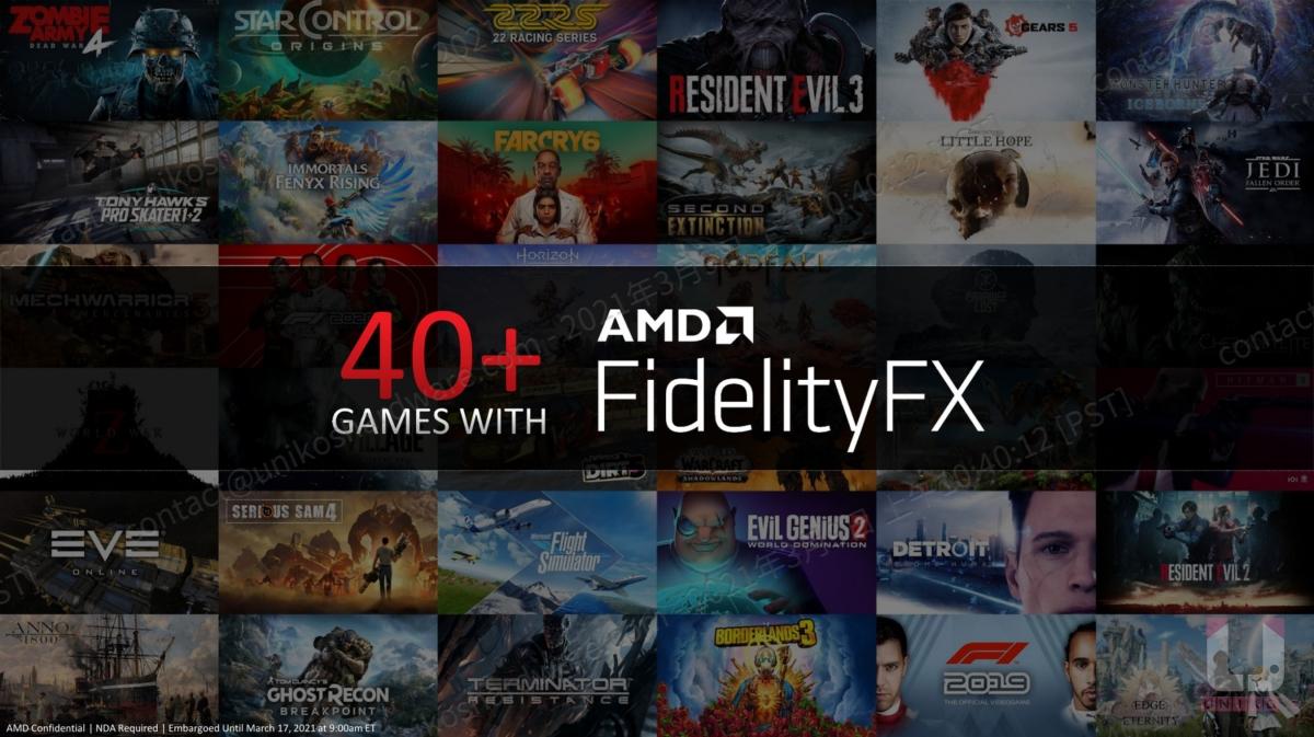 目前已有超過 60 款遊戲支援 AMD FidelityFX 技術。