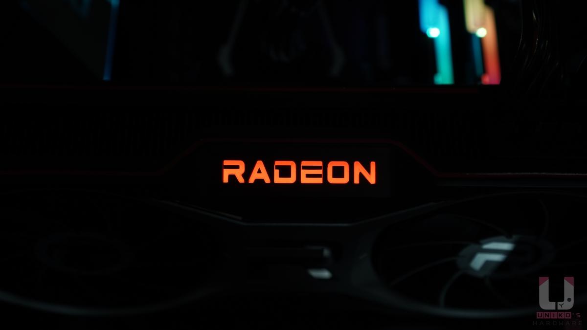 全黑的狀況,Radeon 很清楚。