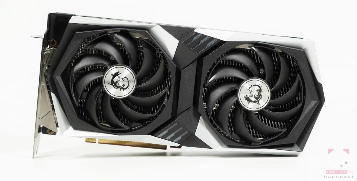 MSI Radeon RX 6700 XT GAMING X 12G 正面。