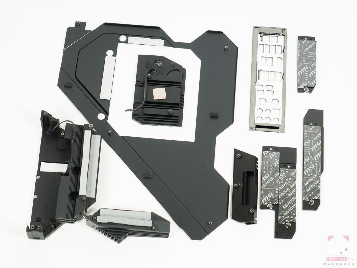 MSI MEG Z590 ACE Gaming 散熱器。