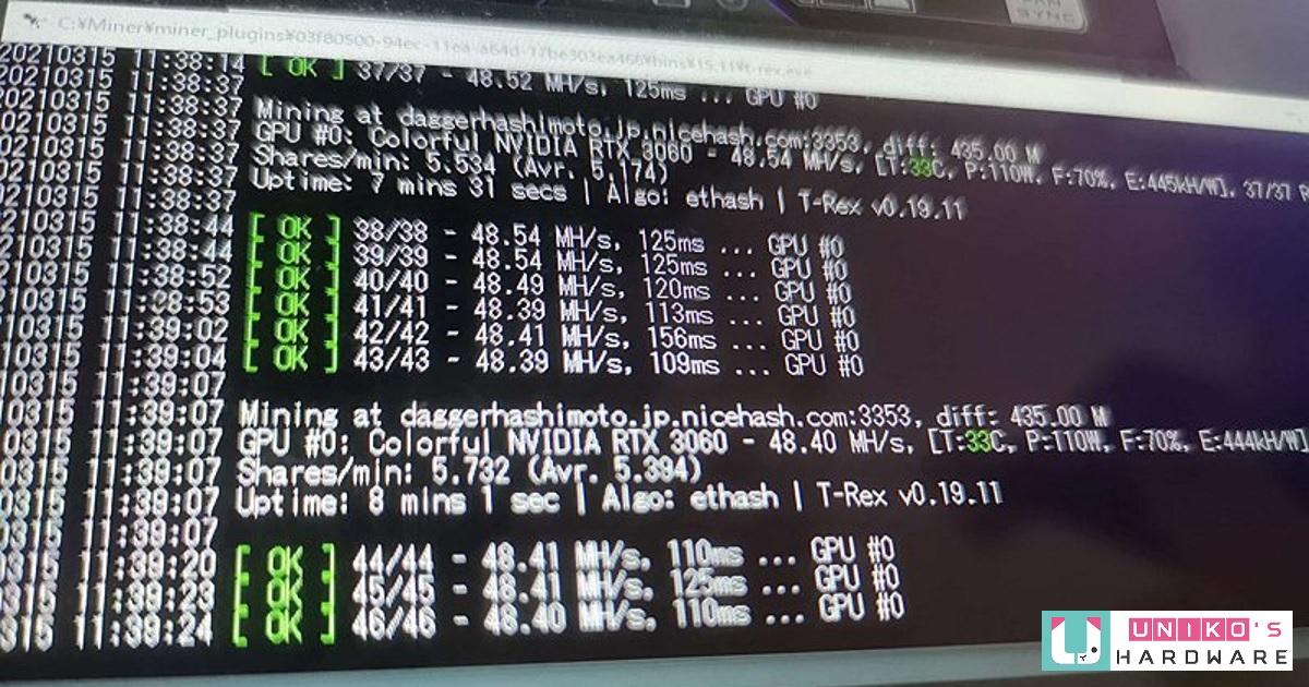 大意了啊沒有鎖?NVIDIA WSL 驅動程式 470.05 BETA 傳聞沒有 RTX 3060 的 ETH 挖礦限制