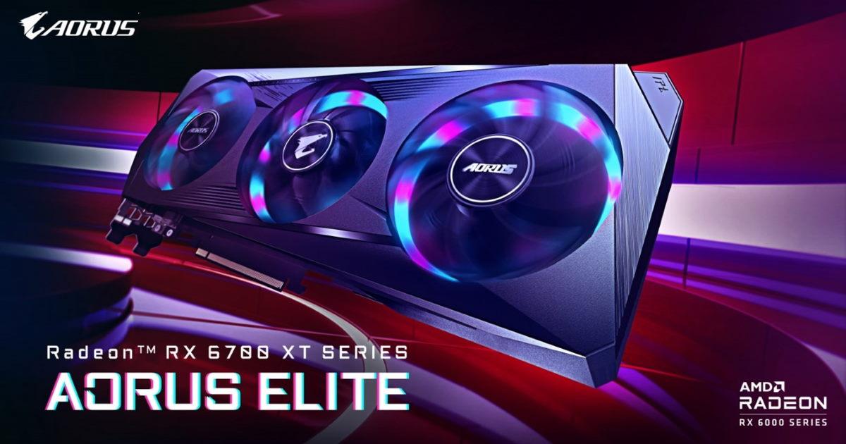 技嘉 AORUS Radeon RX 6700 XT ELITE 顯示卡潮流登場。