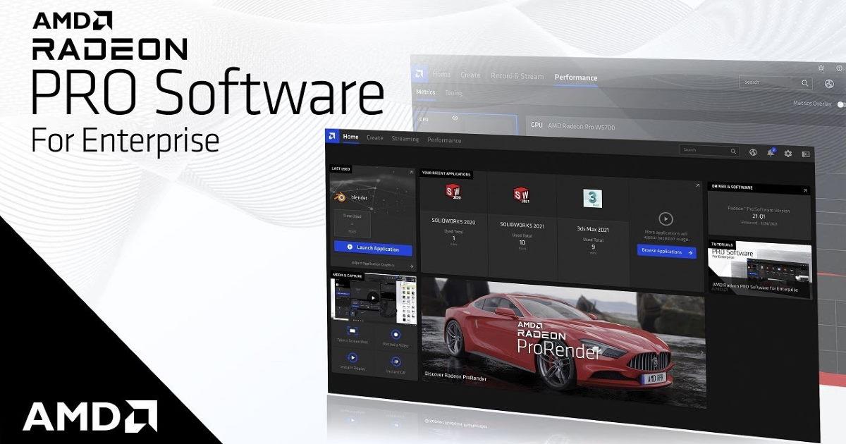 AMD Radeon PRO Enterprise Driver 21.Q1 版專業級繪圖驅動軟體引入全新使用者介面。