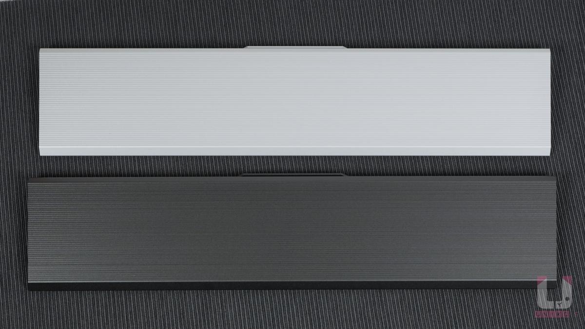 Cherry MX Board 3.0S RGB 可加購的手托採獨立販售,同樣採陽極一體式鋁合金設計,銀色搭配白色,黑色搭配黑色。