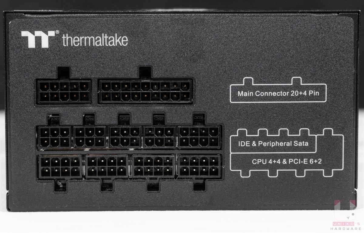 鋼影 PF1 850W 採用全模組化設計,其中 CPU 4+4 和 PCIe 6+2 插孔共用。