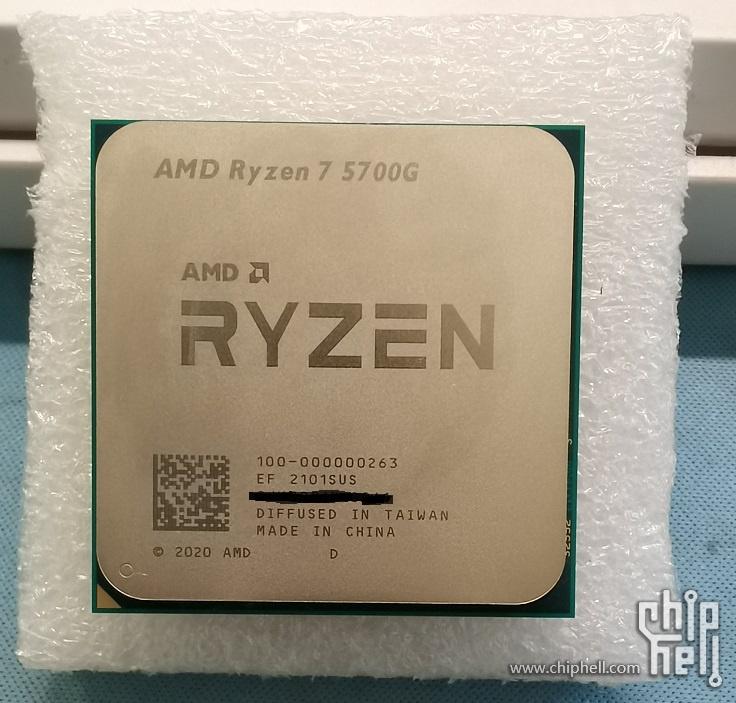 Ryzen 7 5700G 外觀。