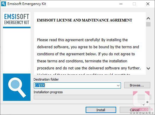 按此進行下載,下載後執行,選擇主程式存放路徑,接著點選 Install。