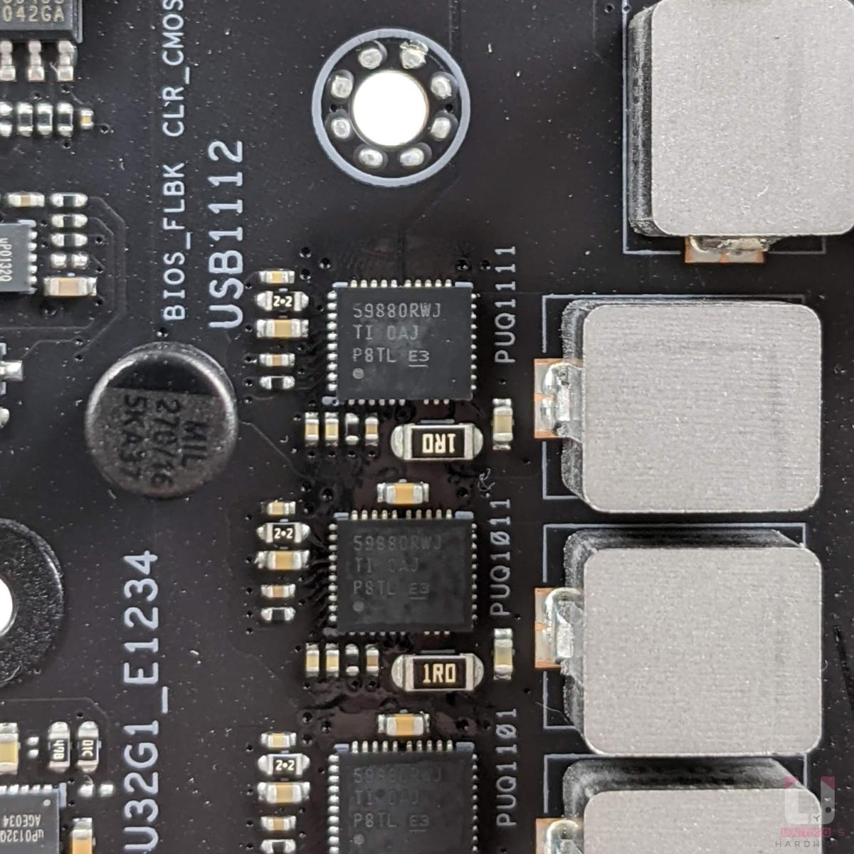 DrMos TI CSD59880。