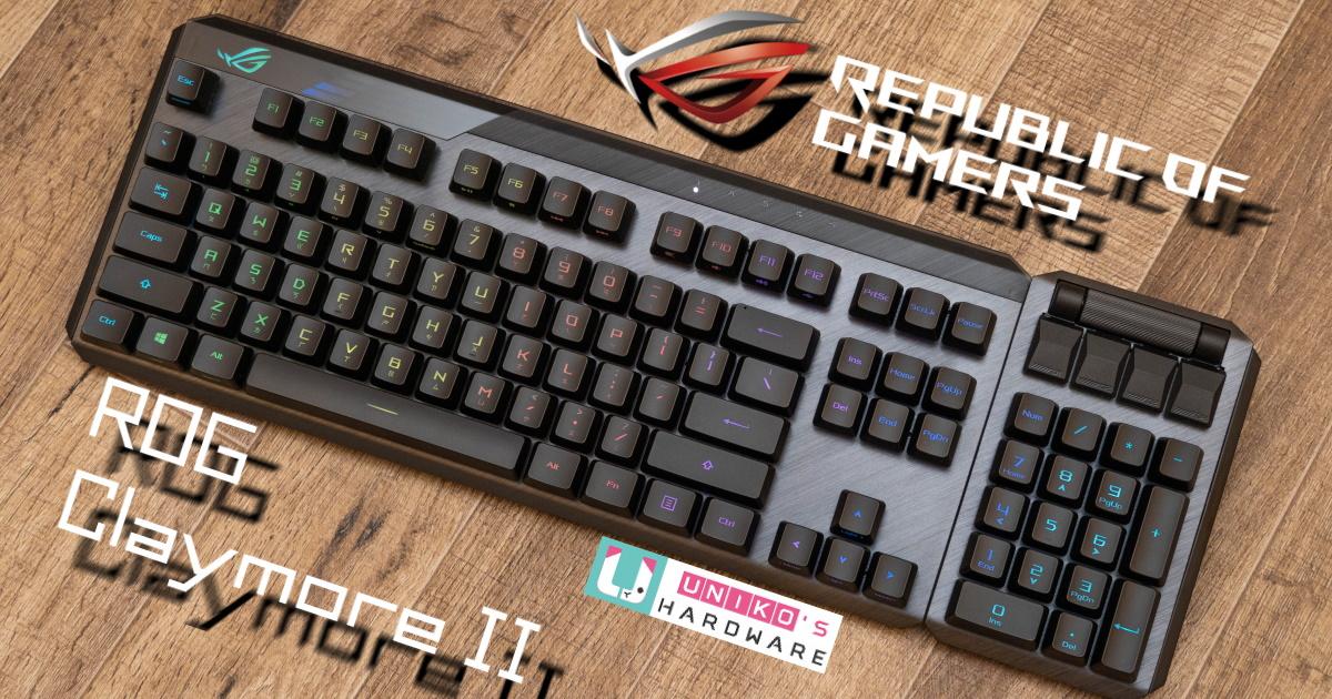 80% 全尺寸自由換~ROG STRIX Claymore II 無線電競鍵盤開箱評測