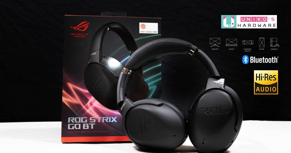 擁有主動 ANC 降噪技術,ROG STRIX GO BT 藍牙無線電競耳機開箱。