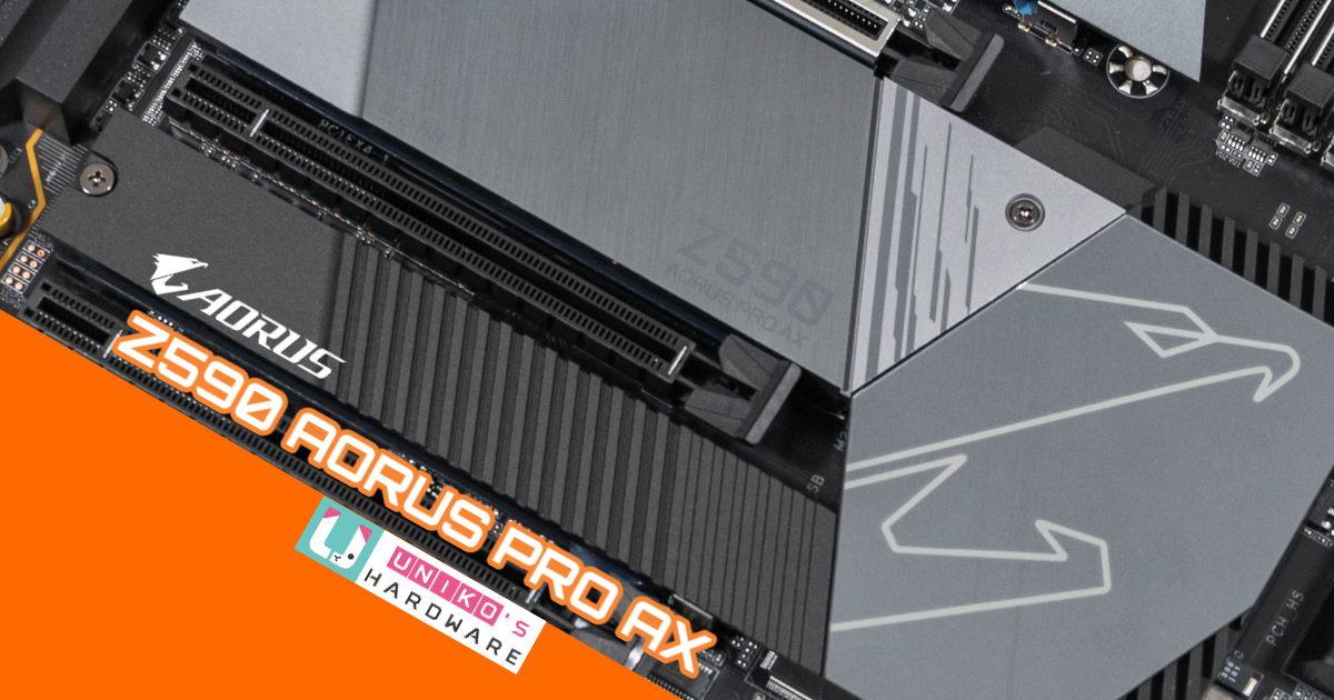 13 相數位供電搭完整二代散熱系統、Z590 AORUS PRO AX 主機板開箱。