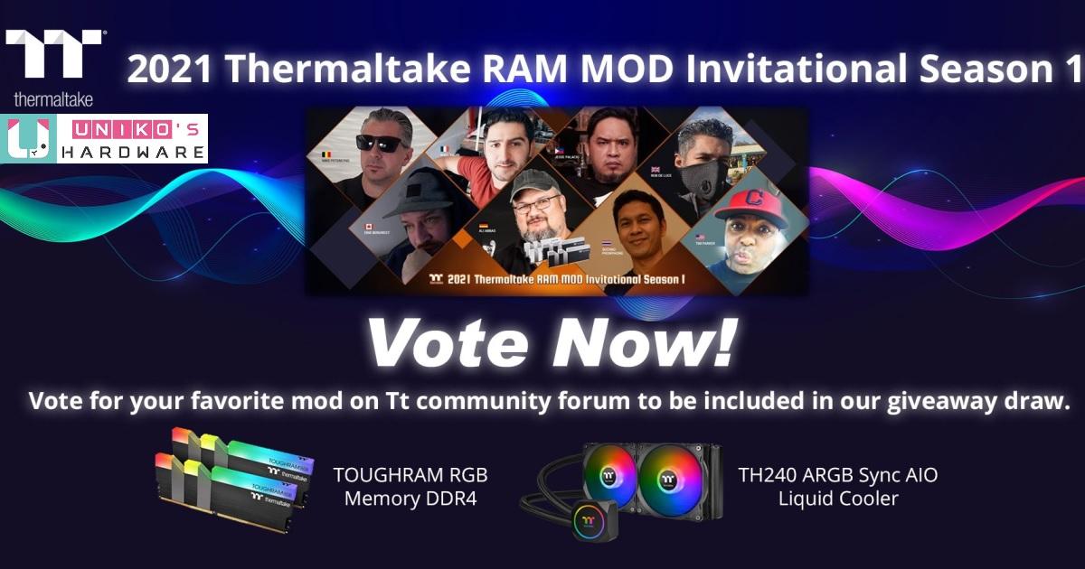 投票抽好禮~ 2021 Thermaltake 曜越記憶體 MOD 改裝達人爭霸戰‧第一季最終決選