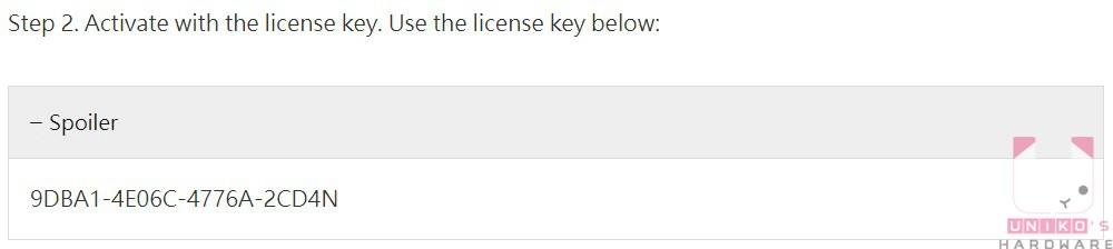 按此開啟 Malware Fighter 限免活動網頁,按一下 Spoiler,就能看到序號。