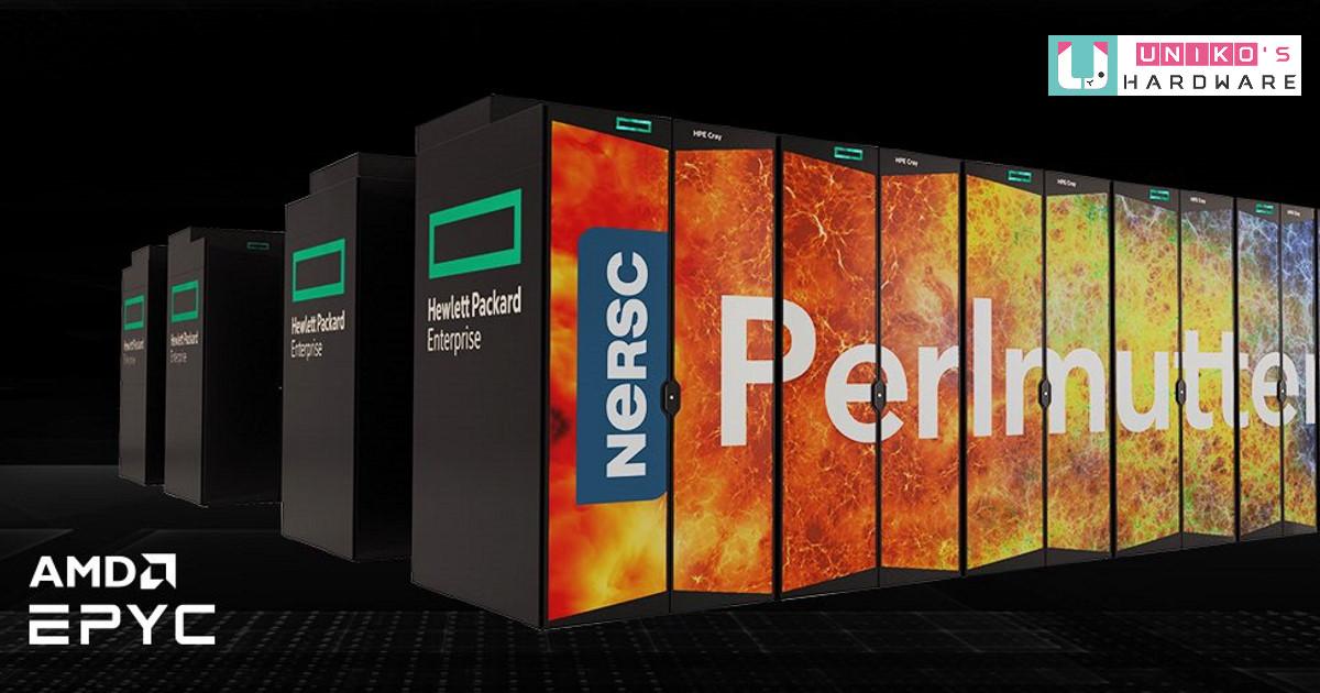 採用高效 AMD EPYC 處理器,助力提升 Perlmutter 超級電腦頂級運算能力