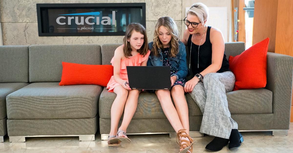 Crucial 分享防疫停課宅在家關鍵五招,讓孩子們開心用電腦