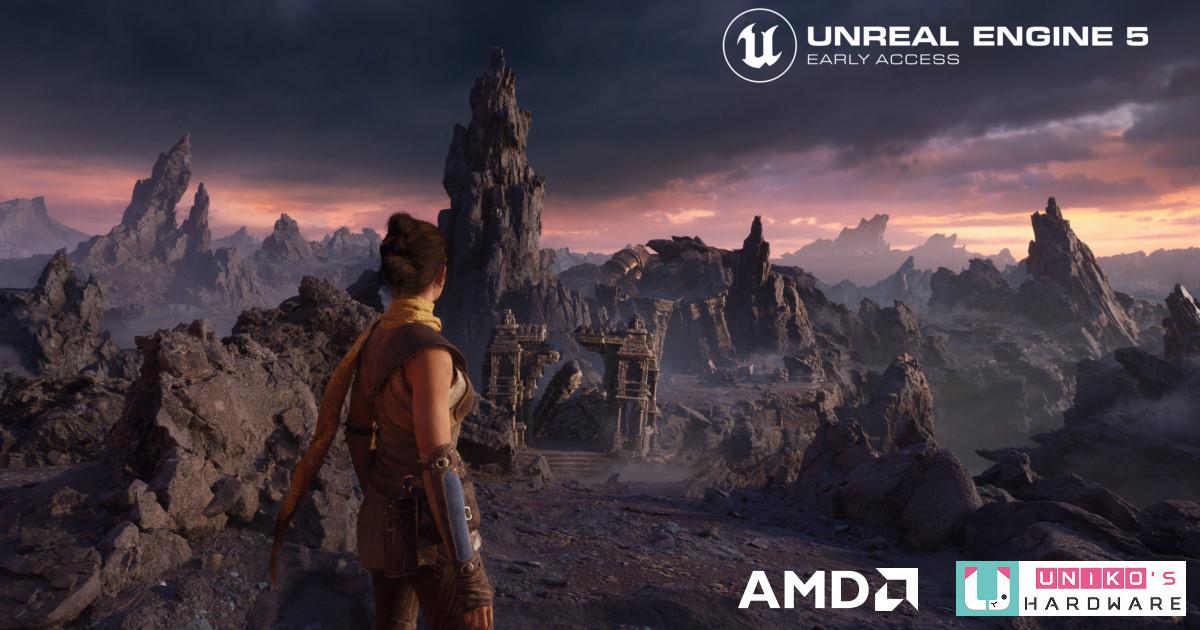 AMD 與 Epic Games 攜手合作,深入最佳化 Unreal Engine 5 遊戲引擎開發