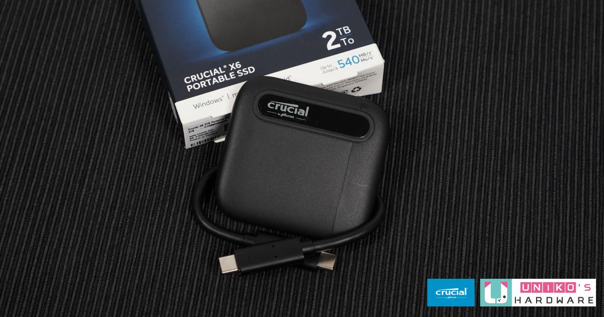 Crucial X6 SSD 行動硬碟評測開箱
