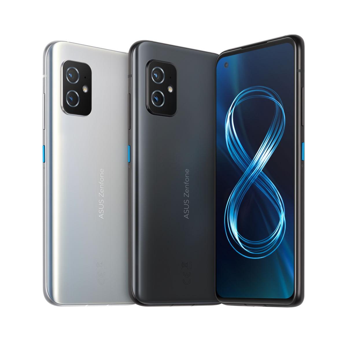 Zenfone 8 消光黑、簡約銀雙色。