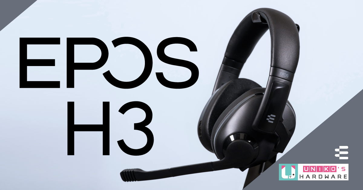 高隔音封閉工藝設計、錄音室級降噪麥克風搭配,EPOS H3 電競耳機開箱評測