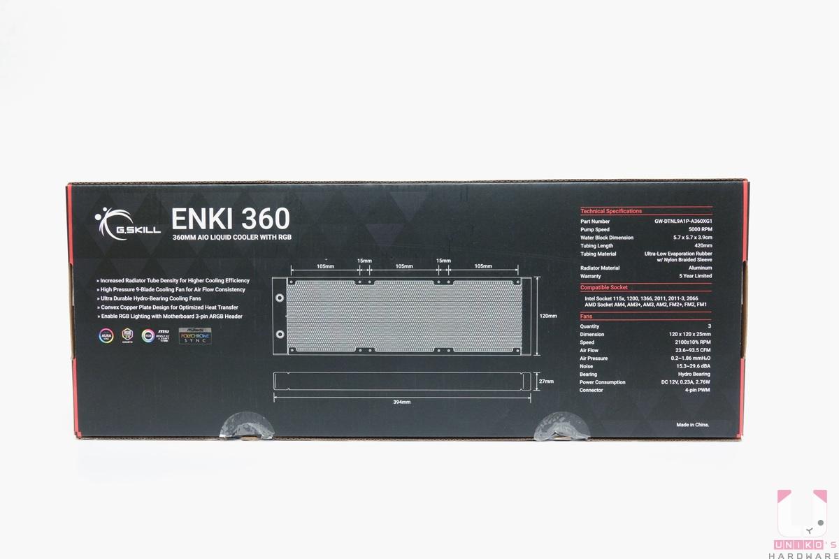 ENKI 360 外盒背面。