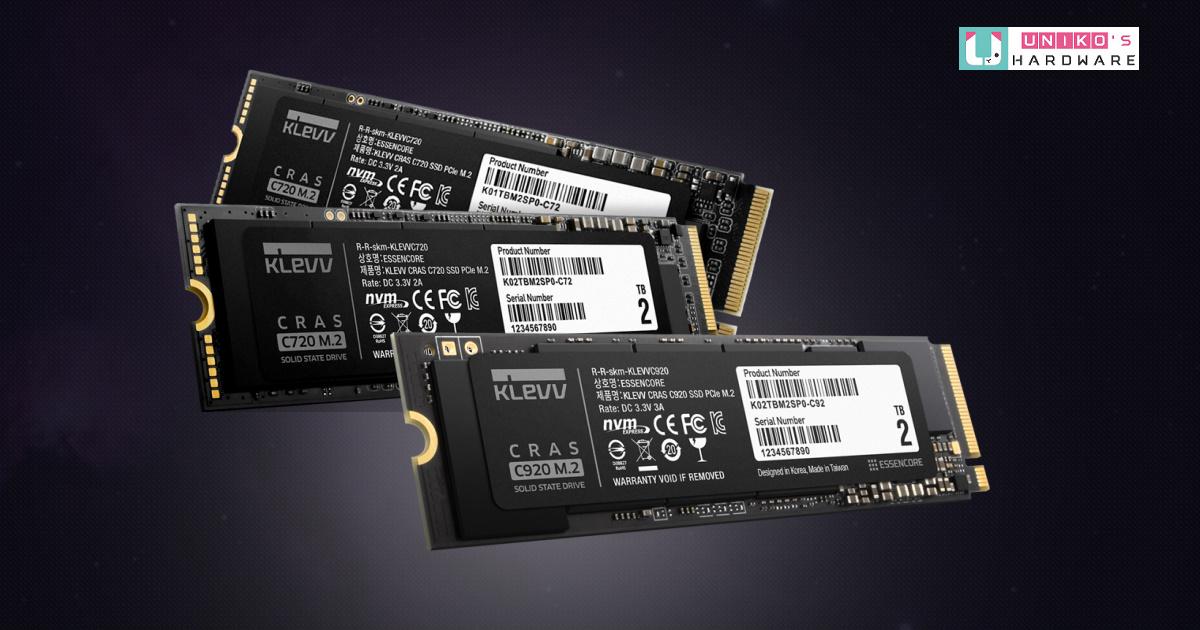 效能玩家升級首選~ Klevv 科賦推出全新疾速 PCIe M.2 SSD:CRAS C920、CRAS C720