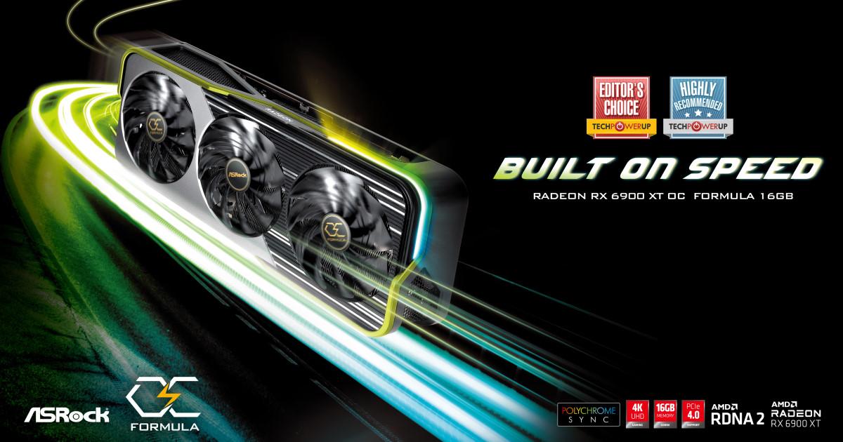 華擎科技發佈 Radeon RX 6900 XT OC Formula 16GB 顯示卡
