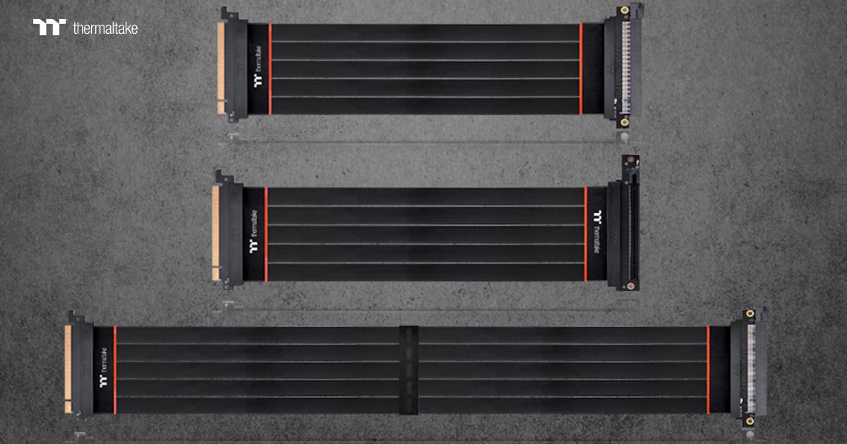 Thermaltake TT Premium PCI-E 4.0 延長線 300mm / 600mm / 300mm (90° 轉接器) 正式上市