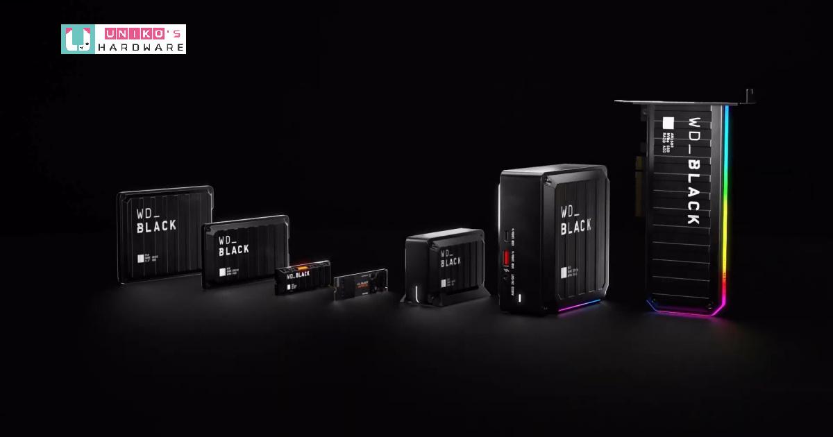 Western Digital 推出兩款全新 SSD,強化 WD_BLACK 黑標產品線戰力