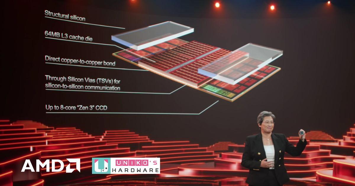 AMD 最新 3D Chiplet 透過 3D Vertical Cache 技術提升平均高達 15% 的遊戲效能