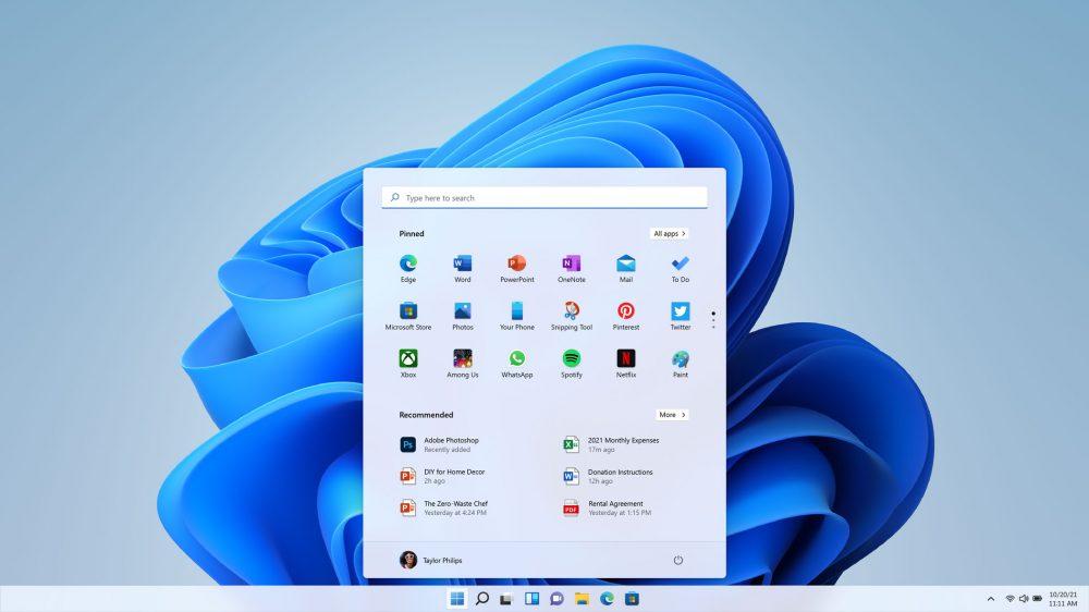 Windows 11 兼具全新、簡潔的介面及直觀的功能操作,能賦能使用者提升生產力並激發創造力。使用者可以透過點擊螢幕中央的「開始鍵」,更輕鬆、迅速地找到所需要的內容。