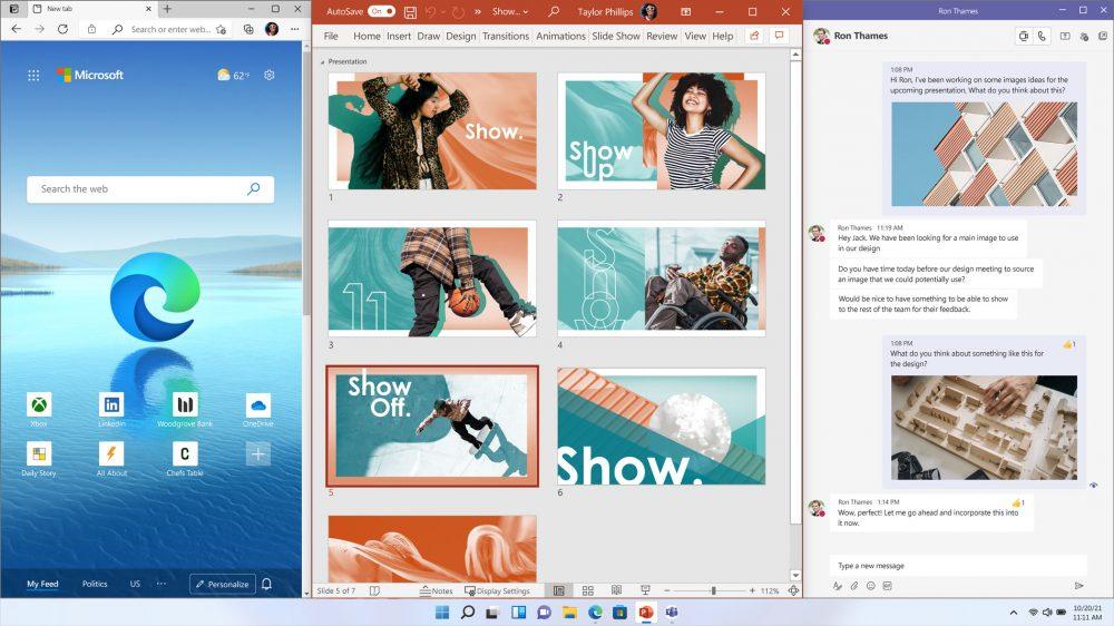 Windows 11 新增諸多全新功能,例如視窗佈局(Snap Layouts)、視窗群組(Snap Groups)和新的桌面(Desktops)等強大功能,這些新功能可以幫助使用者整理他們的視窗並優化螢幕空間,讓使用者多工作業變得更加靈活。