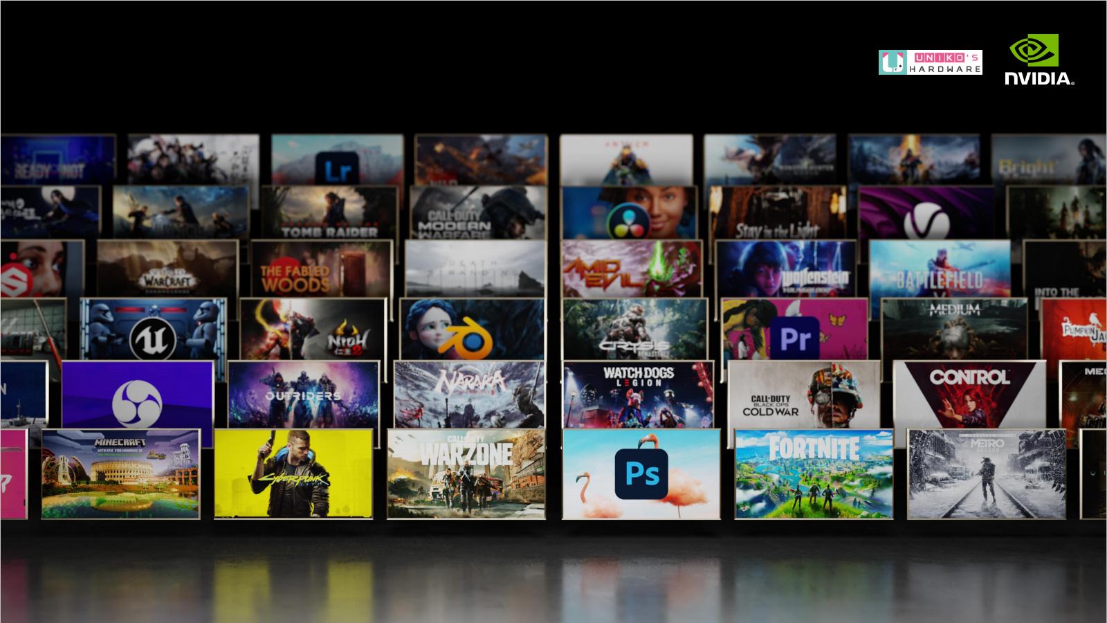光線追蹤與 NVIDIA DLSS 獲業界廣泛採用 支援 NVIDIA RTX的遊戲數量大幅增至 130 款