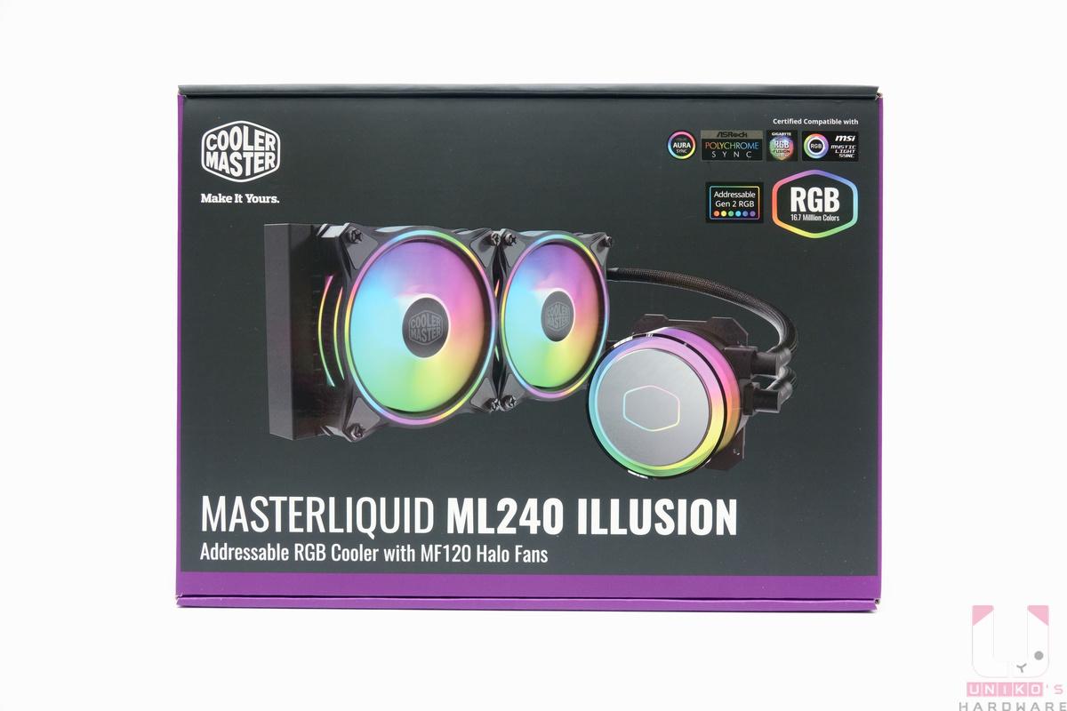 MASTERLIQUID ML240 ILLUSION 外盒。