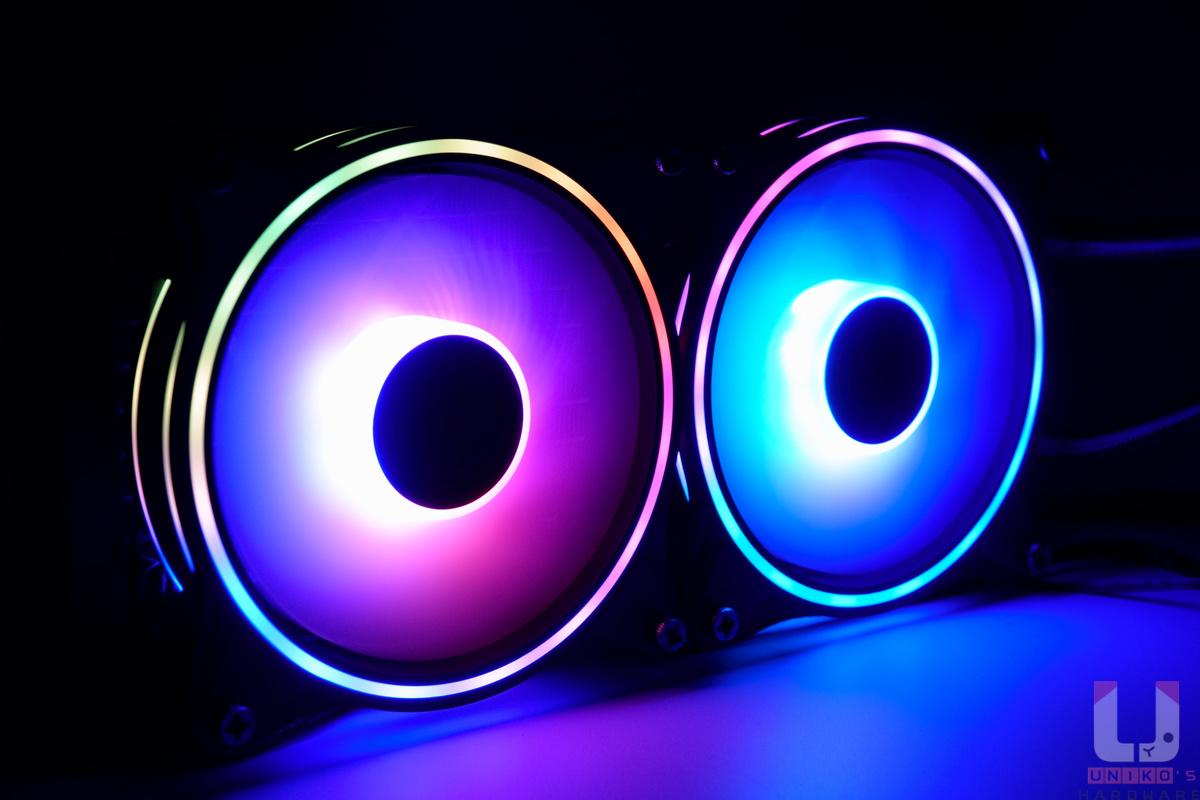 MasterFan MF120 Halo ARGB 燈效展示。