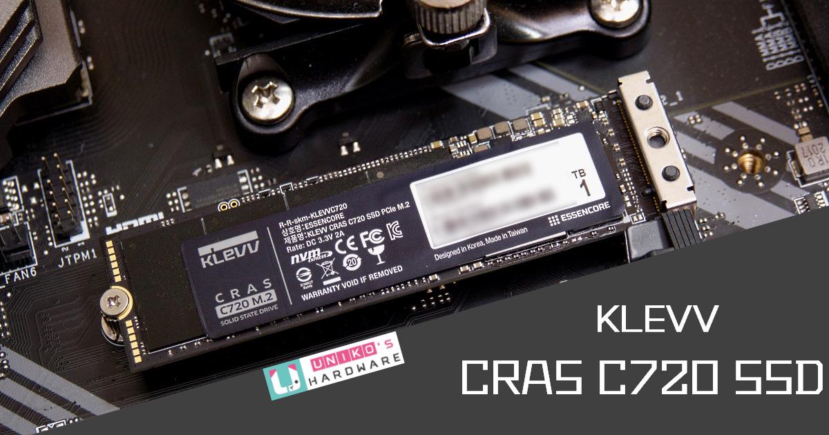 KLEVV CRAS C720 Gen3 x4 1TB M.2 SSD 評測開箱