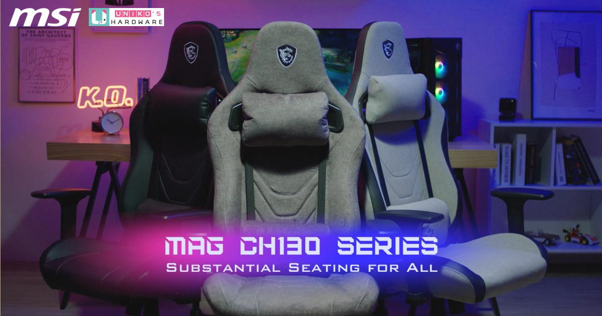 愛貓玩家必備~ MSI 推出 MAG CH130 I 系列防水耐刮系列電競椅