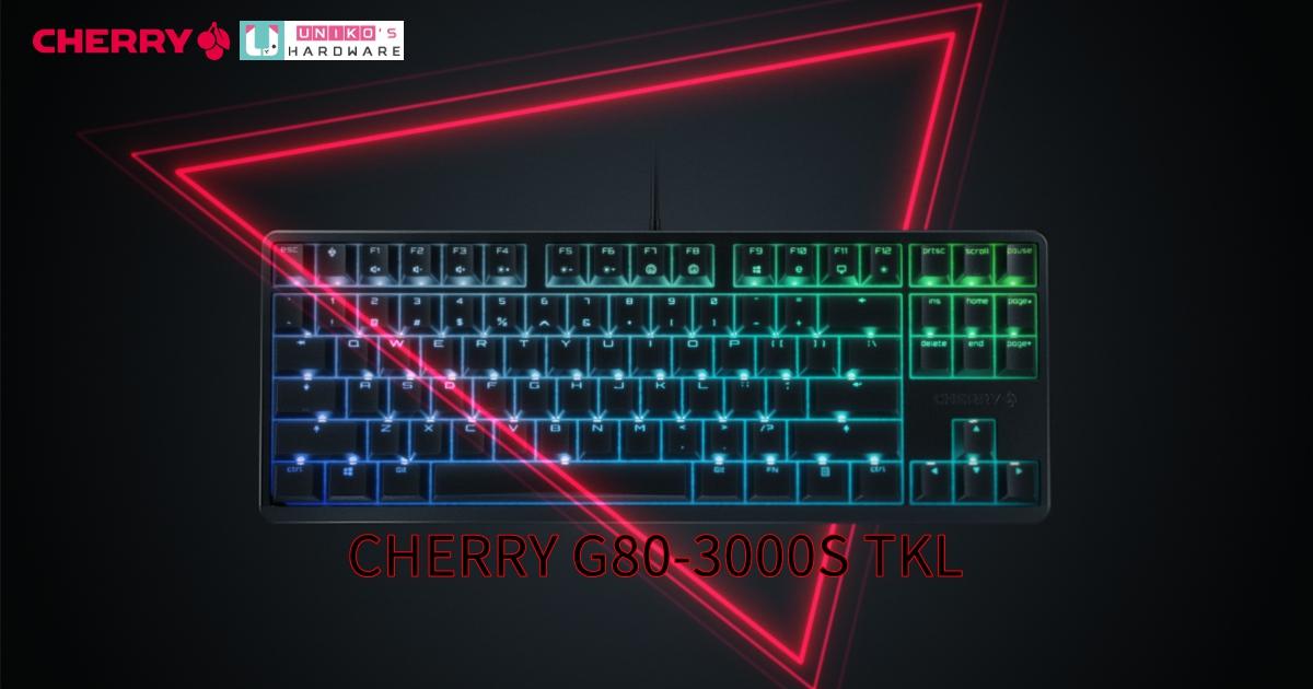 淬鍊手感,經典重現~ CHERRY G80-3000S TKL