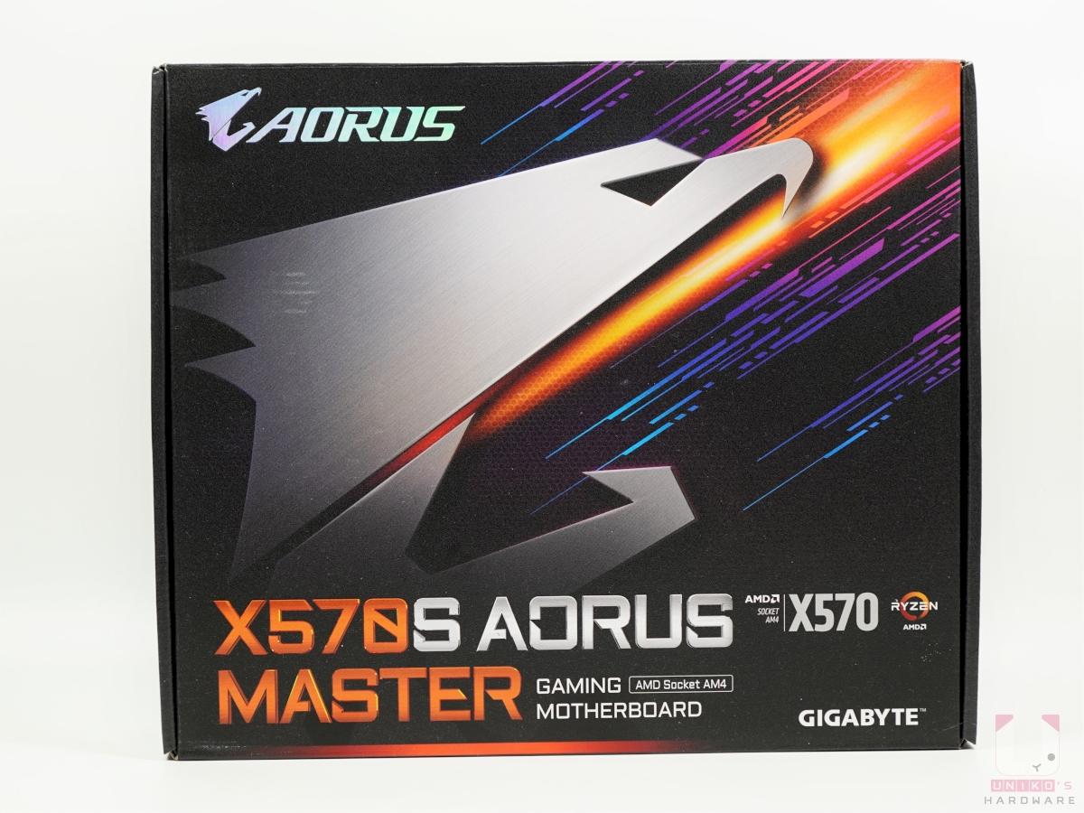 X570S AORUS MASTER 包裝正面