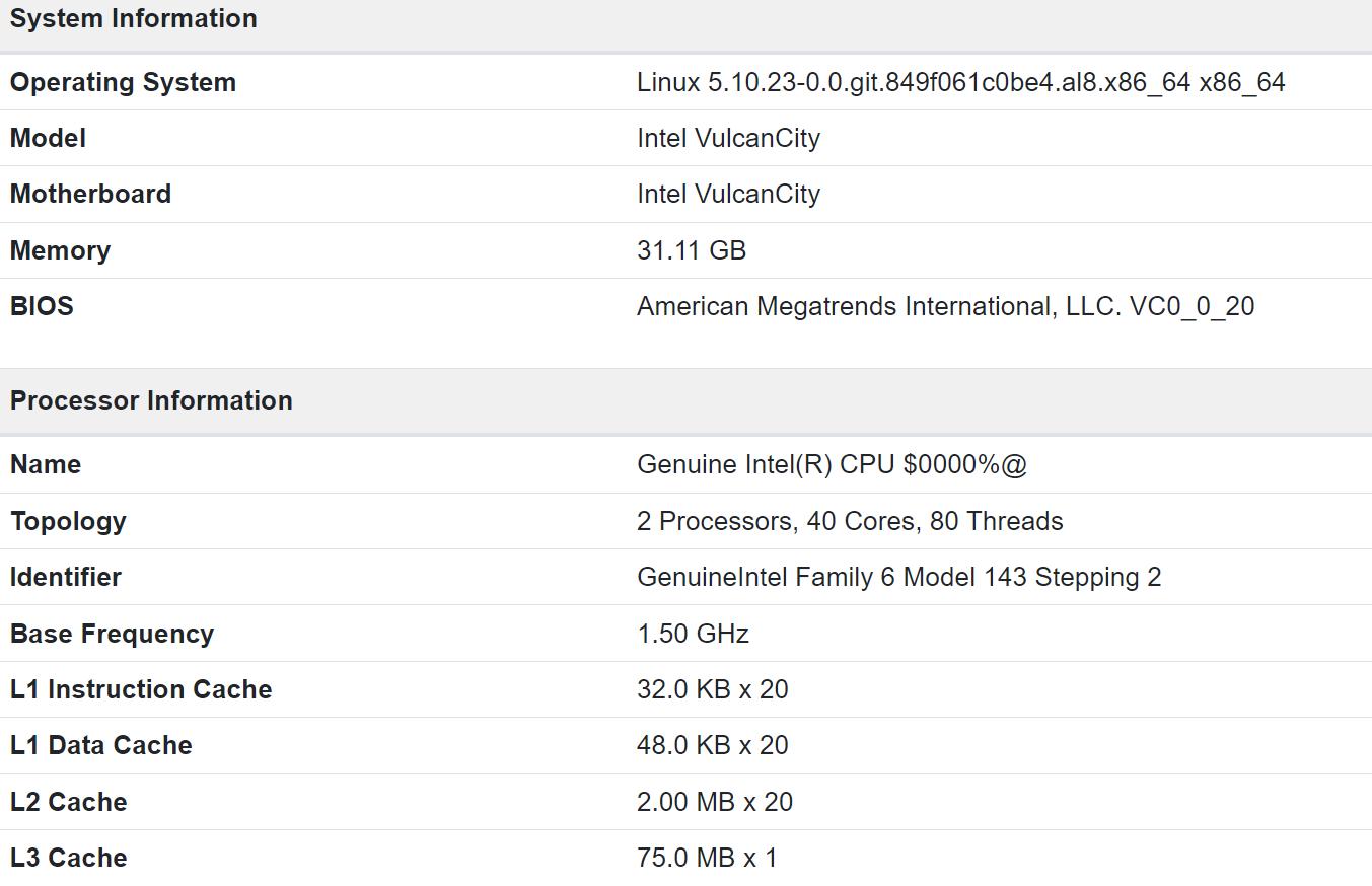 Geekbench 曝光的 Intel sapphire Rapids CPU 規格資訊