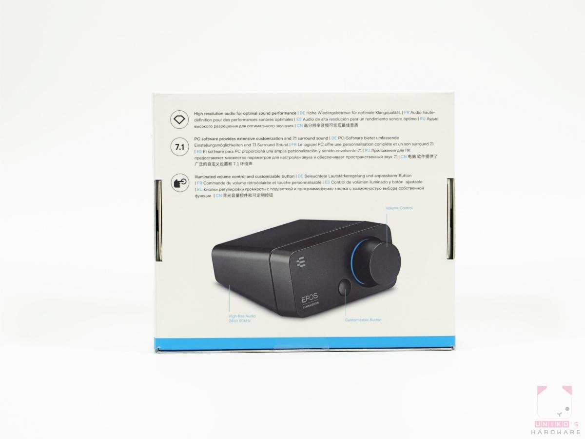 EPOS Sennheiser GSX 300 包裝背面