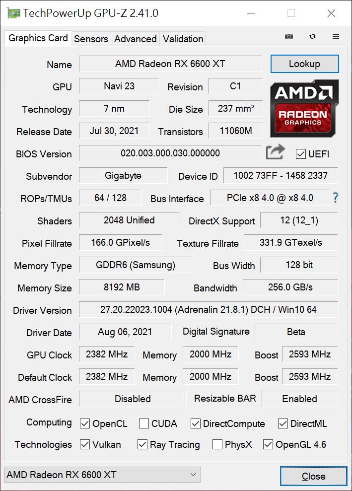 GPU-Z 截圖。