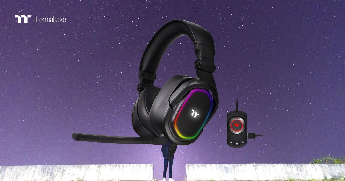 Thermaltake ARGENT H5 RGB 7.1 環繞音效電競耳機於 8 月上市