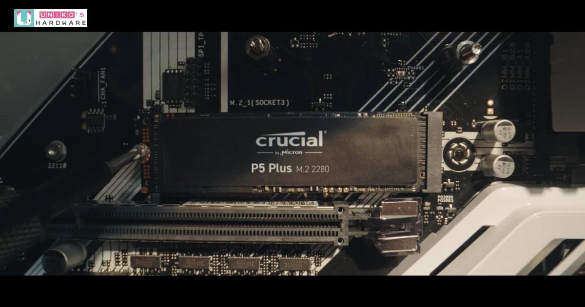 打造高速儲存體驗~ 美光全新 Crucial P5 Plus PCIe Gen4 SSD 為主機全面加速