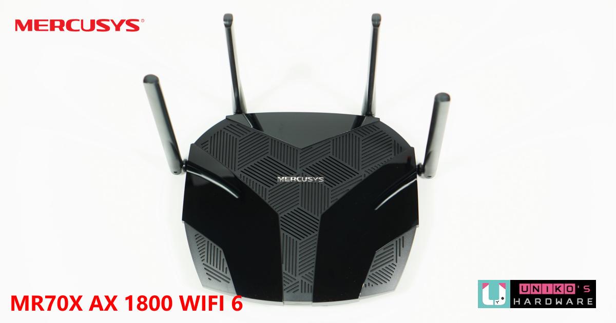 Mercusys 水星網路 MR70X AX1800 雙頻 WiFi 6 無線路由器開箱評測