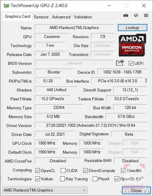 Ryzen 5 5600G GPU 資訊