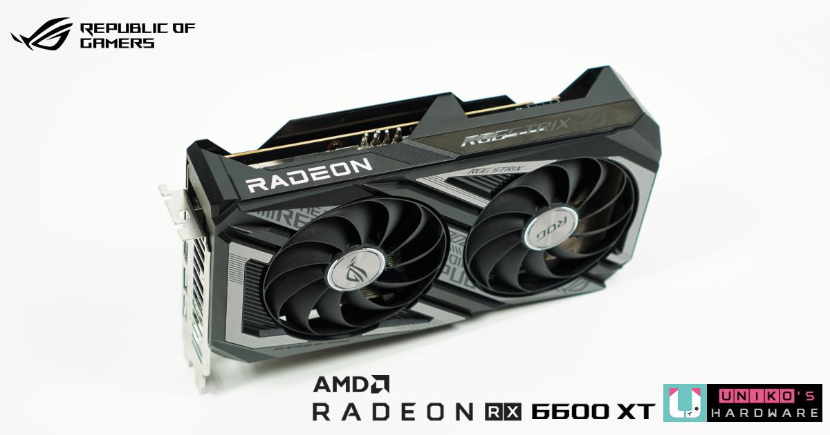 ROG Strix Radeon RX 6600 XT 顯示卡評測開箱