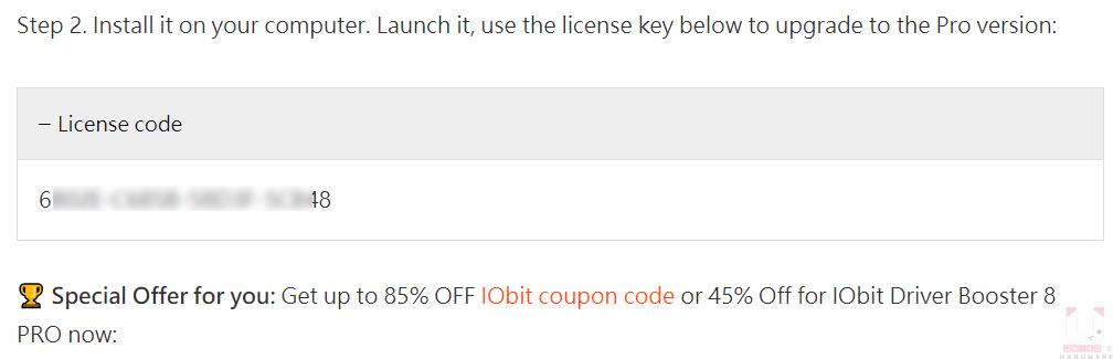 到限免活動網站,點開 License code 就會看到序號。