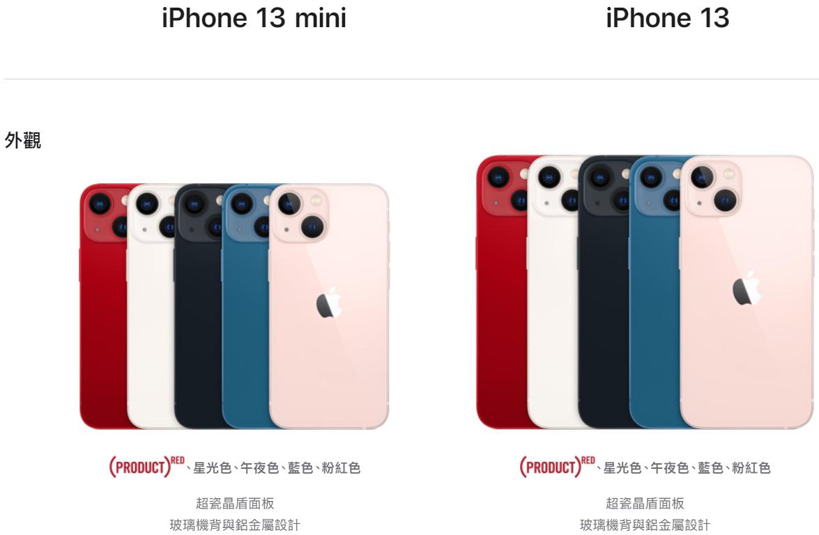 iPhone 13 顏色。