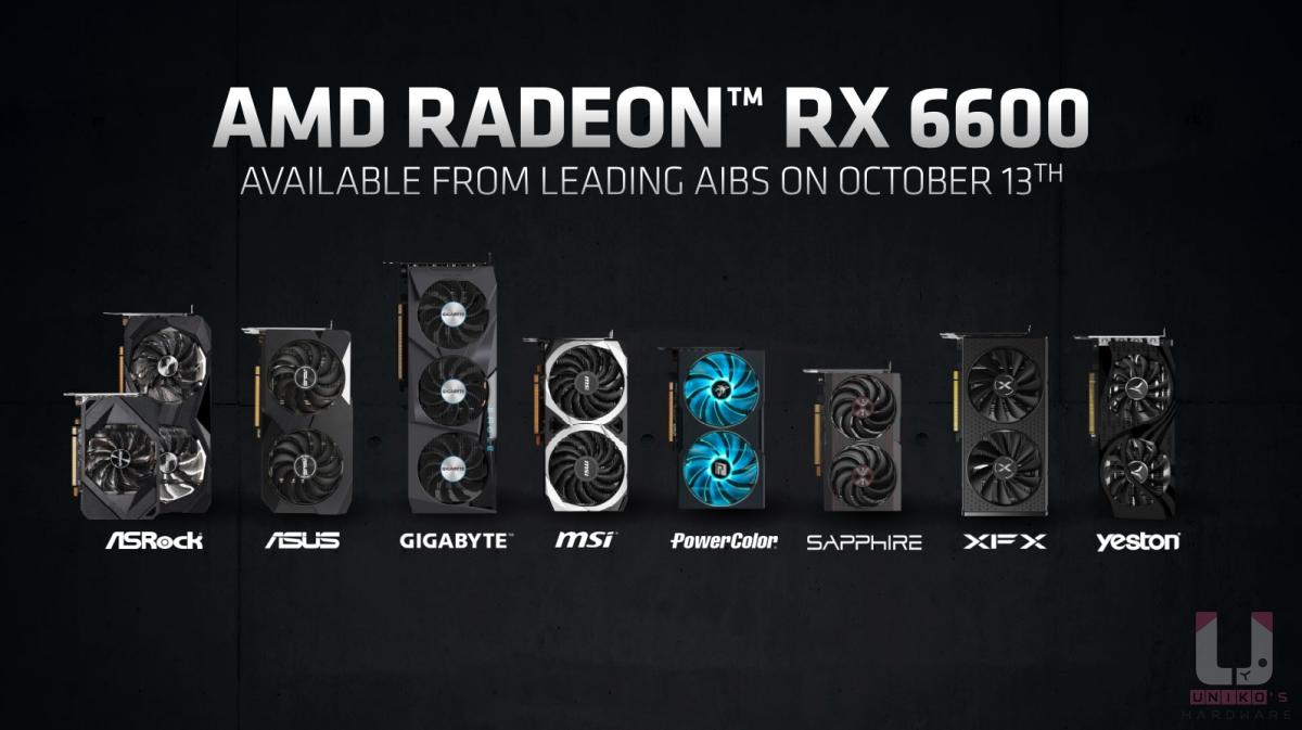 AMD Radeon RX 6600 非公版各廠外觀