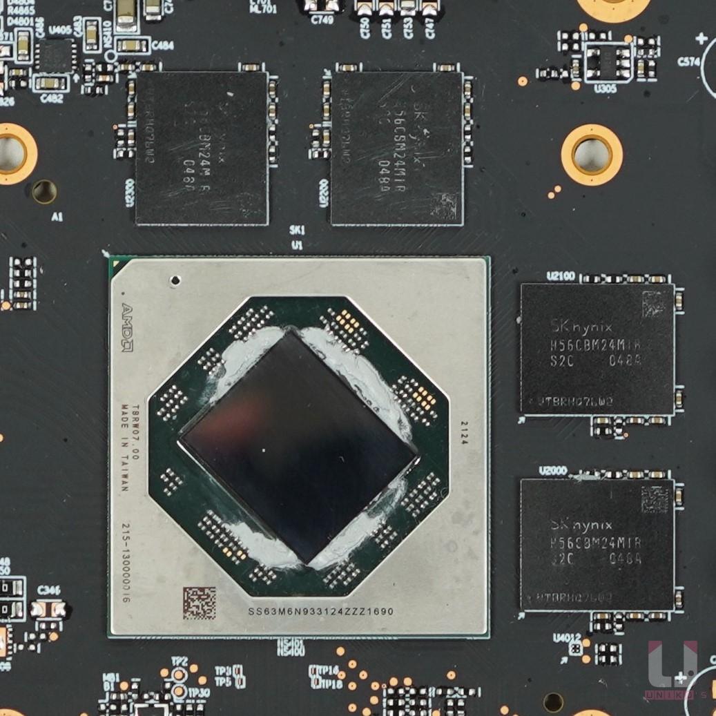 Navi 23 XL 核心,SK HYNIX H56CBM24MIR 14Gbps GDDR6